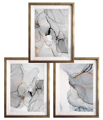 Abstracción acuarelada blanco y negro (3 diseños disponibles) / Desde 35.000 c/u