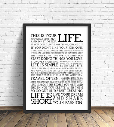 This is Your Life / Desde 25.000