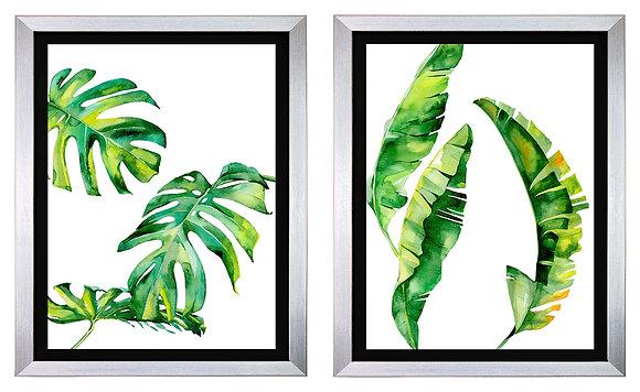 Hojas Tropicales Grandes negro (2 diseños disponibles) / Desde 59.000 c/u