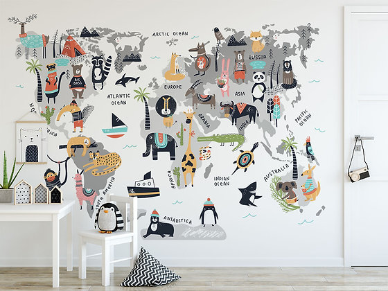 Papel Mural Animal World