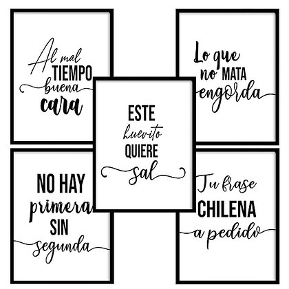 Frases chilenas  / (6 diseños disponibles) Desde 20.000 c/u