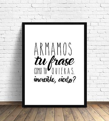 ¡ARMA TU FRASE! / Desde 23.000 c/u