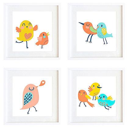 Pájaros alegres (4 diseños disponibles) / Desde 20.000 c/u