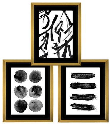 Trazos abstractos en negro (3 diseños disponibles) / Desde 79.000 c/u