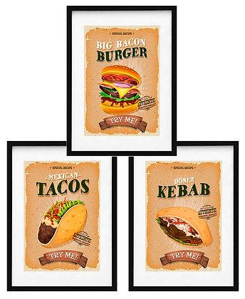 Fast food (10 diseños disponibles) / Desde 23.000 c/u