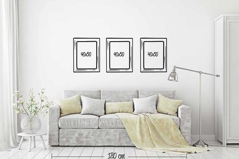 3 cuadros 40x50