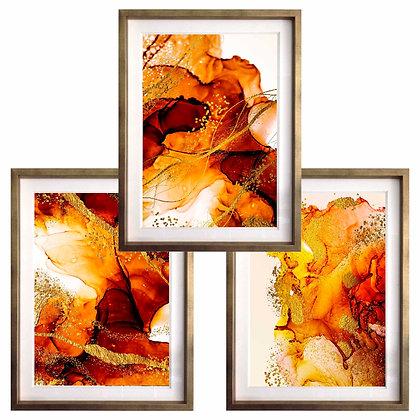 Acuarelados en rojo y naranjo (3 diseños disponibles) / Desde 35.000 c/u