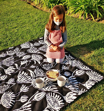 Manta picnic Blanco y Negro