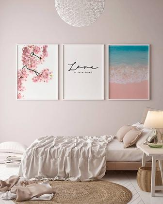 Set 3 cuadros Pink & Calm