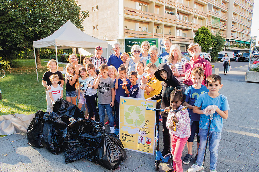 Photo de groupe de Quartiers solidaires à Chavannes-près-Renens