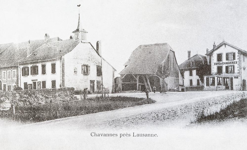 Photo d'archive du quartier du Café de Chavannes