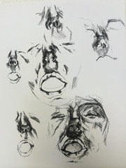 Practicing faces 2014