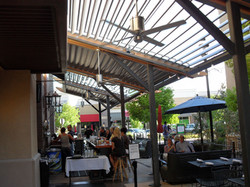 Tres Agaves restaurant [open roof]