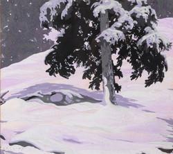George Cassidy, Untitled (Snoey Winter Scene with Cedar)