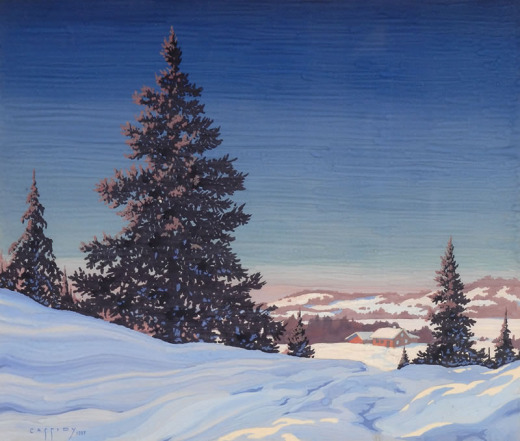 George Cassidy, Untitled ( Snow Banks foreground, buildings in distance)