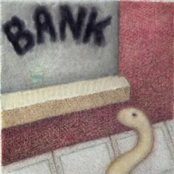 Doug Donley, Snake and Waterglass (Bank)