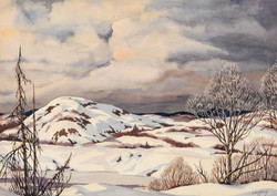 George Cassidy, Untitled (winter Landscape, stormy sky)