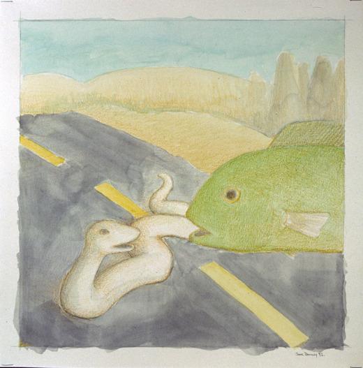 Doug Donley, Fish saying no to a snake