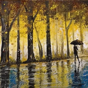Rainy Day Painting - 'At Home Art 37'