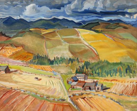 George, Pepper, Untitled (landscape-farm)