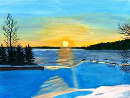 Sunrise on Lake Temiskaming (Photo credit to Lisa Neil)