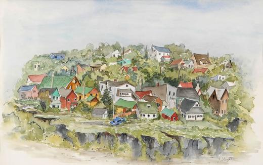 Jean Stoughton, Cobalt on the Rocks