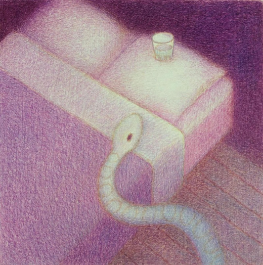 Doug Donley, Snake and Waterglass (Bed)