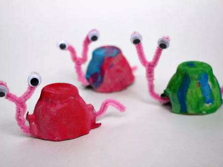 Egg Carton Crafts - At Home Art series l
