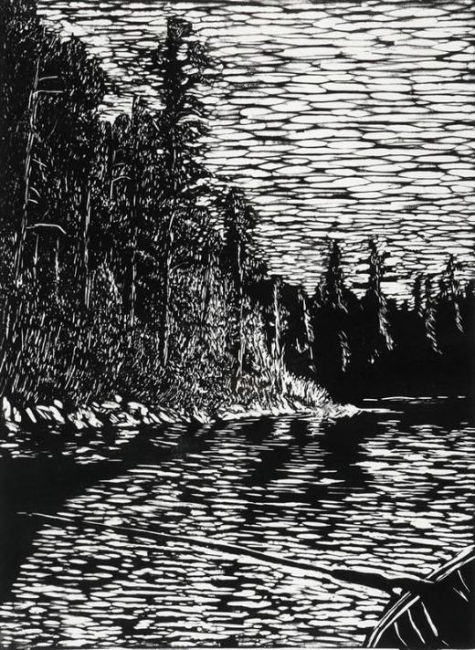 Sue Gamble, Evening. Temiskaming Lake