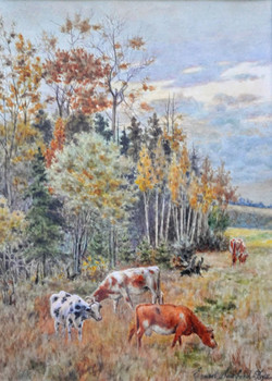 Ernest Sawford-Dye, Untitled (pastoral scene with grazing cattle)