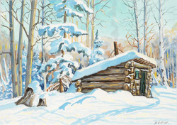 Muriel Newton-White, Winter Shack