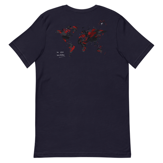 Rxmbo 2 - Navy T Shirt (Red/Black Camouflage)