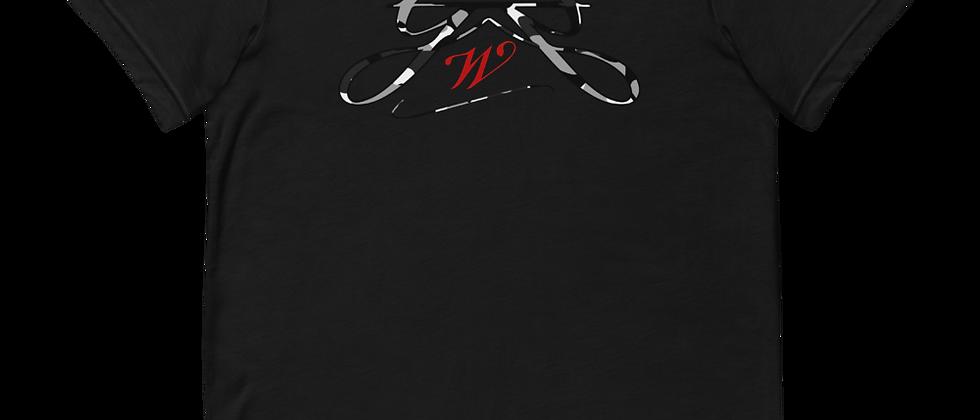 Rxmbo 2 - Black T Shirt (White/Black Camouflage)