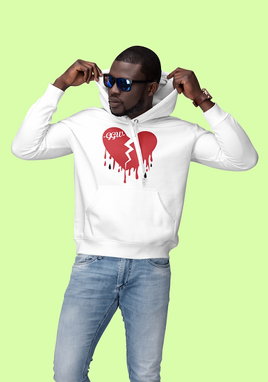 H//B - White Pullover Hoodie