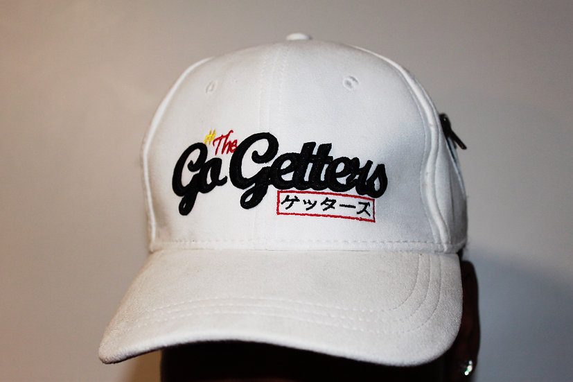 #TheGetters Suede Hat - White