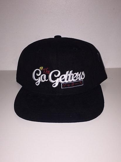 #TheGetters - Casquette en daim noir, Strapback en alligator
