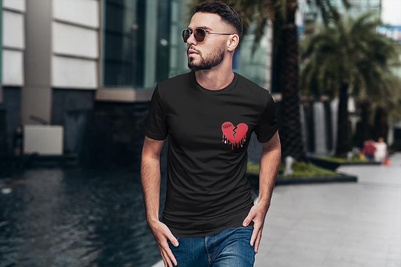 H £ ARTBROK £ - ब्लैक टी शर्ट