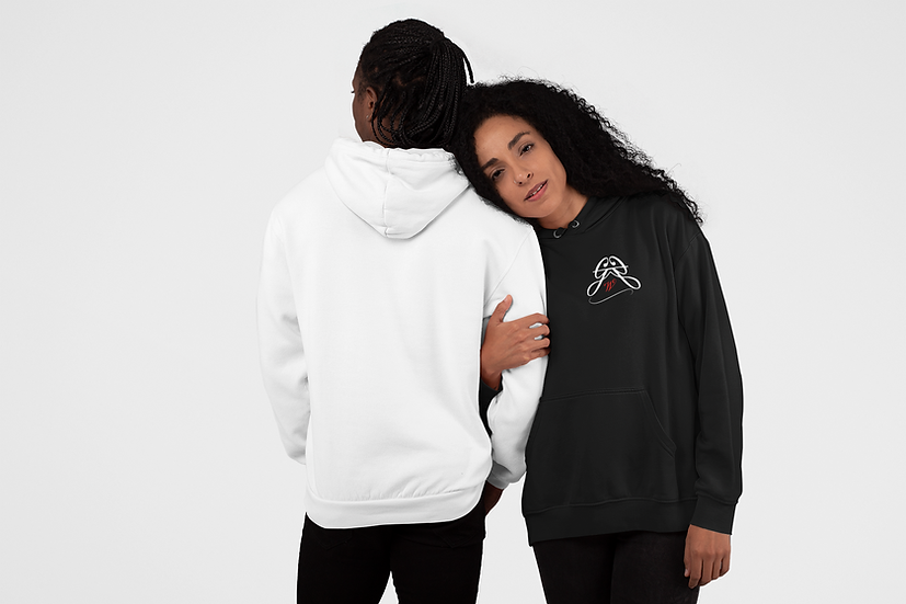 GGW Initial - Hoodies (White / Blackout)