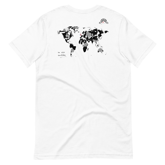 Rxmbo 2 - White T Shirt (Grey/Black Camouflage)