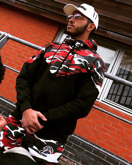 Red 'Rxmbo' Tracksuit Set