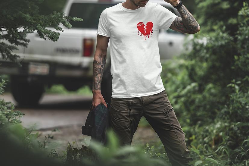 H £ ARTBROK £ - व्हाइट टी शर्ट
