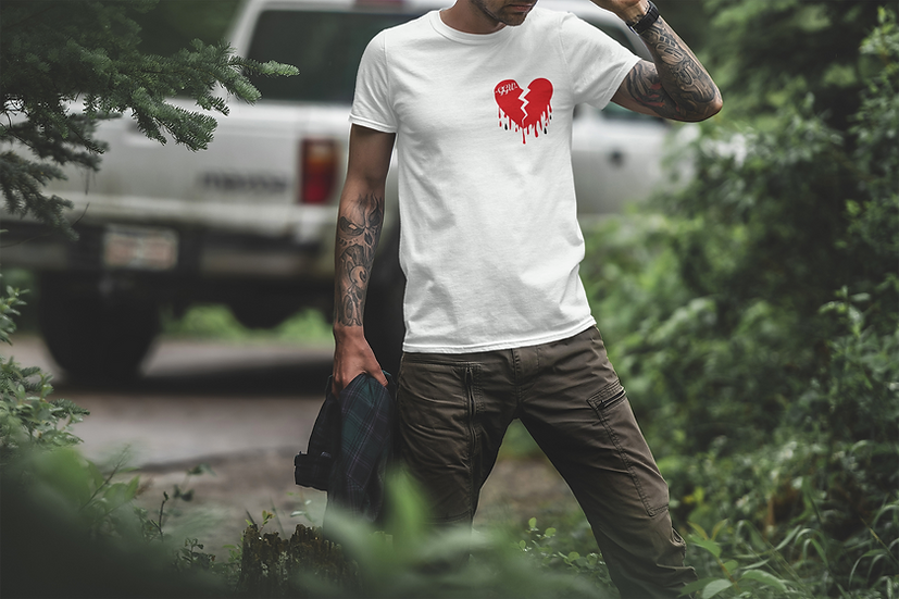 H£ARTBROK£ - White T Shirt