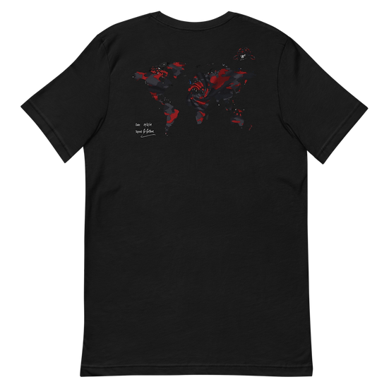 Rxmbo 2 - Black T Shirt (Red/Black Camouflage)