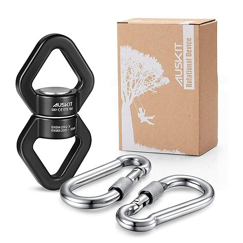 Spinning rig and 2 carabiners