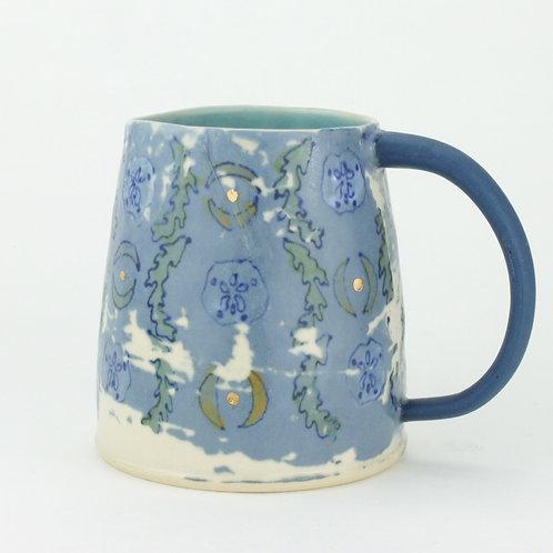 seaweed and sand dollar wallpaper mugs