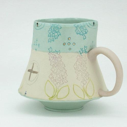 two toned lilac mug