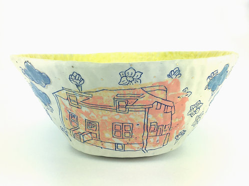 orange house serving bowl