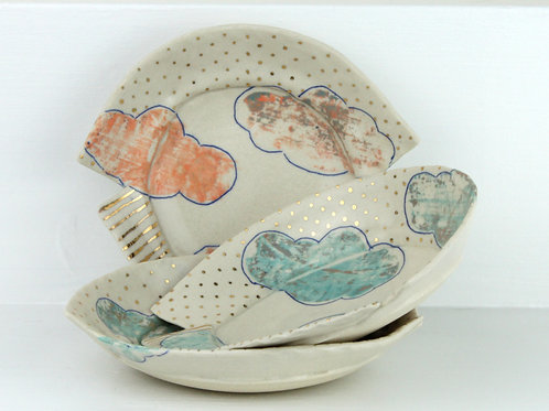 small cloud dish with lustre