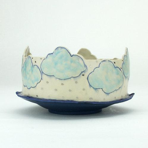 two-toned cut cloud bowl