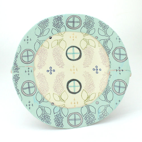 two-toned lilac lunch plate